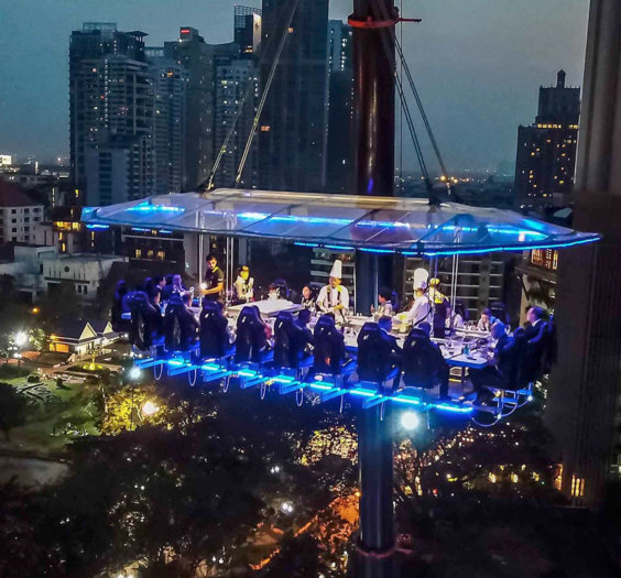 Dinner in the Sky - Bangkok Newest Highlight is open