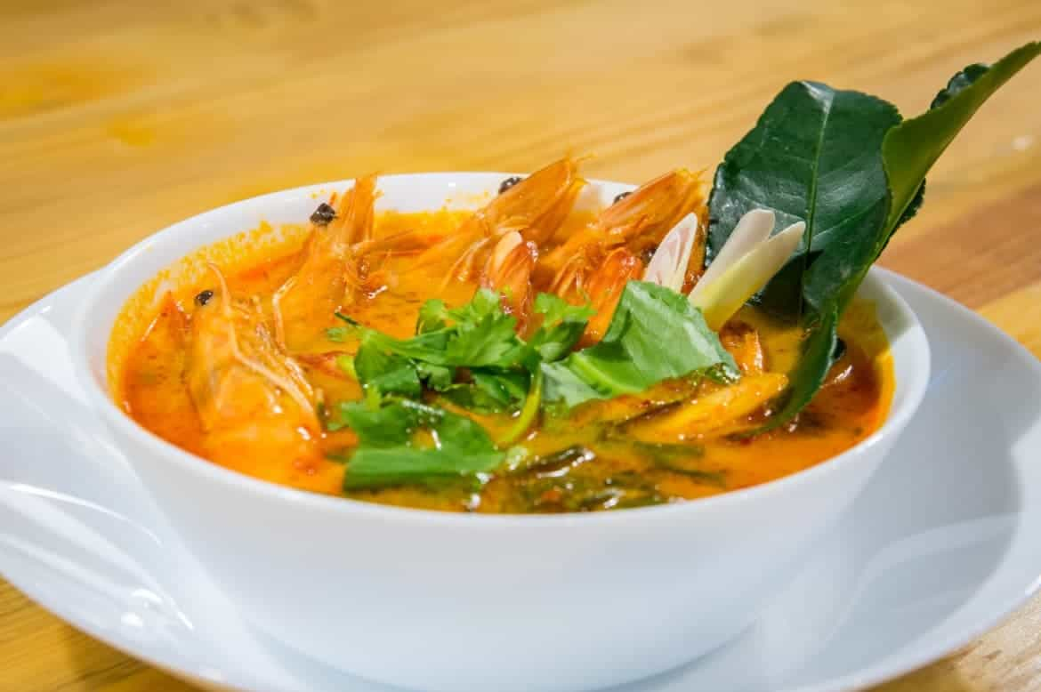 Dish 2 - Tom Yum Goong (Spicy Sour Shrimp Soup)