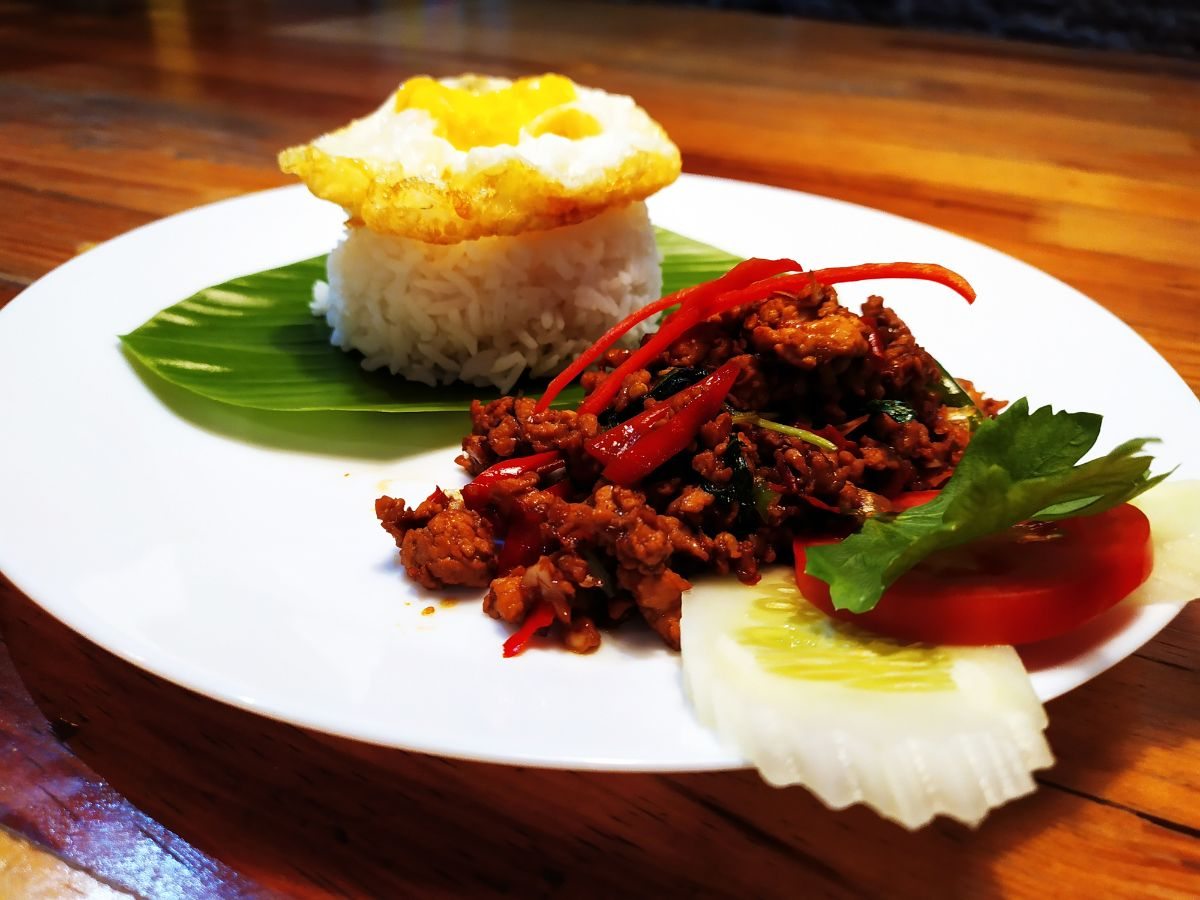 Dish 1 – Pad Kra Pao (Chicken StirFry with holy Basil